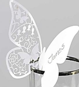 segnaposto farfalla