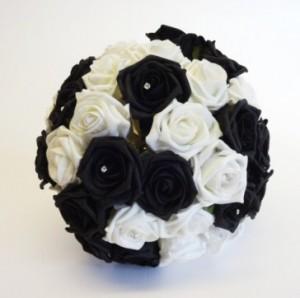 bouquet bianco nero