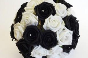 bouquet bianco ner