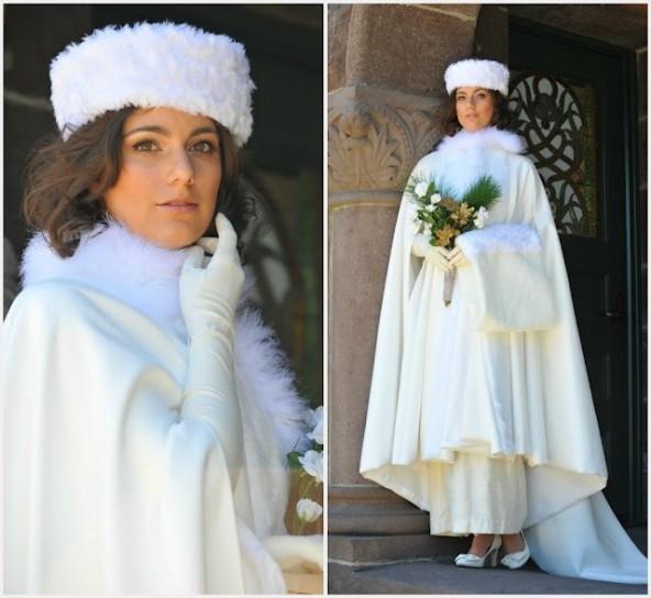 cappotto corto sposa