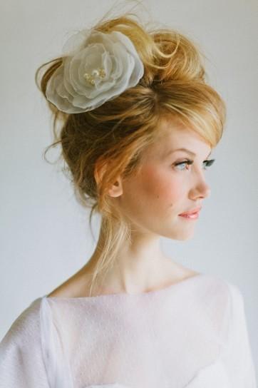 fiori sposa capelli