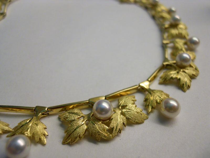 collier oro sposa