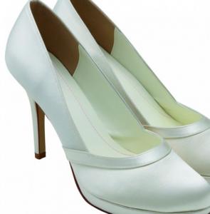Scarpe con plateau per sposa