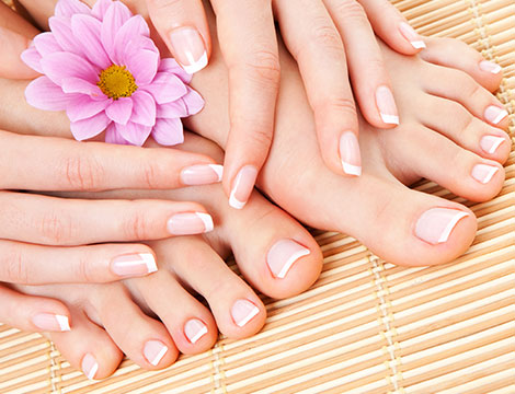 pedicure French matrimonio