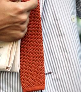 cravatta estiva testimone